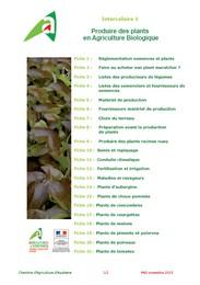 Guide production de plants de l gumes bio en aquitaine - Chambre agriculture gironde ...